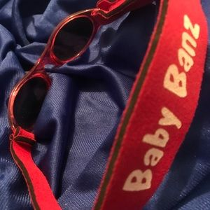 Red Baby Banz Sunglasses with Velcro closure